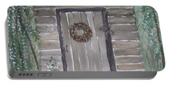 Christmas Card No.3 Rustic Cabin Portable Battery Charger