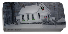 Christmas Card - Snow - Gates Chapel Portable Battery Charger
