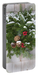 Christmas Evergreen Wreath Portable Battery Charger