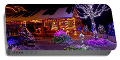 Christmas Fantasy Lodge And Tree Lights Portable Battery Charger