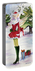 Christmas Fantasy  Portable Battery Charger by Nadine Dennis