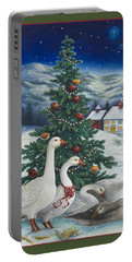 Christmas Geese Portable Battery Charger
