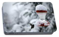 Portable Battery Charger featuring the photograph Christmas Hummingbird by Katie Wing Vigil