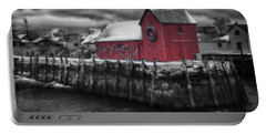 Christmas In Rockport New England Portable Battery Charger by Jeff Folger