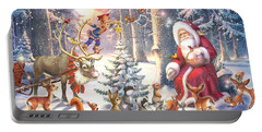 Christmas In The Forest Portable Battery Charger