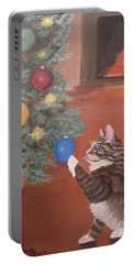 Christmas Kitty Cat Portable Battery Charger