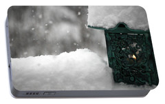 Portable Battery Charger featuring the photograph Christmas Lantern by Katie Wing Vigil