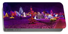 Christmas Lights In Town Park - Fantasy Colors Portable Battery Charger