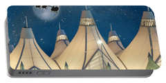 Christmas Night At Denver International Airport Portable Battery Charger