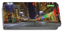 Christmas On Woodward Portable Battery Charger by Nicholas  Grunas