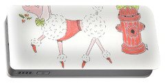 Christmas Poodle Portable Battery Charger