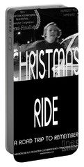 Christmas Ride Poster B And W Portable Battery Charger