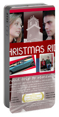 Christmas Ride Poster W Church Portable Battery Charger