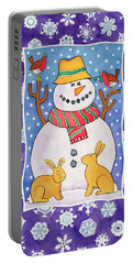 Christmas Snowflakes Portable Battery Charger by Cathy Baxter
