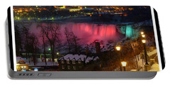 Christmas Spirit At Niagara Falls - Holiday Card Portable Battery Charger