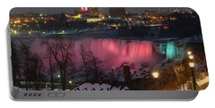 Christmas Spirit At Niagara Falls Portable Battery Charger