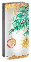 Portable Battery Charger featuring the painting Christmas Star by Teresa White