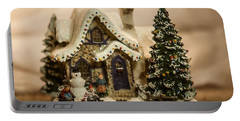 Portable Battery Charger featuring the photograph Christmas Toy Village by Alex Grichenko