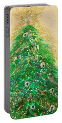 Christmas Tree Gold By Jrr Portable Battery Charger by First Star Art