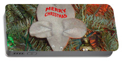 Portable Battery Charger featuring the photograph Christmas Tree Mouse by Joseph Baril
