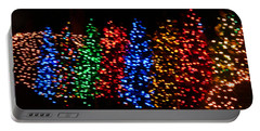 Christmas Trees Dancing In The Night Portable Battery Charger