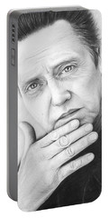 Christopher Walken Portable Battery Charger by Olga Shvartsur