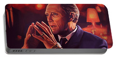 Christopher Walken Painting Portable Battery Charger by Paul Meijering