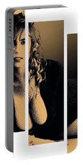 Portable Battery Charger featuring the digital art Christy Canyon In Copper by Dale Loos Jr