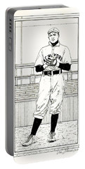 Portable Battery Charger featuring the drawing Christy Mathewson by Ira Shander