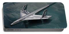 Chrome Airplane Hood Ornament Portable Battery Charger