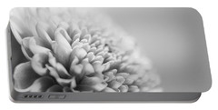 Chrysanthemum In Black And White Portable Battery Charger