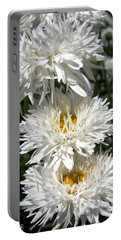 Portable Battery Charger featuring the photograph Chrysanthemum Named Crazy Daisy by J McCombie