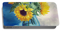 Portable Battery Charger featuring the painting Chrysanthemums by Sorin Apostolescu