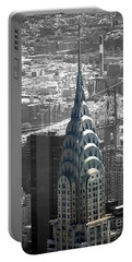 Chrysler Building Portable Battery Charger by Angela DeFrias