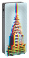 Chrysler Pop Art Portable Battery Charger by Gary Grayson