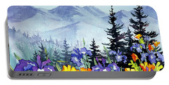 Portable Battery Charger featuring the painting Chugach Summer by Teresa Ascone