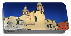 Portable Battery Charger featuring the photograph Church In Camogli by Antonio Scarpi