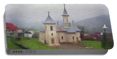 Church In The Mist Portable Battery Charger