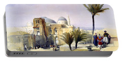 Church Of The Holy Sepulchre In Jerusalem Portable Battery Charger