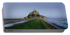 Church On The Beach, Mont Saint-michel Portable Battery Charger