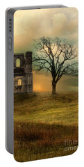 Church Ruin With Stormy Skies Portable Battery Charger