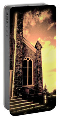 Church Vignette Against Sky Portable Battery Charger