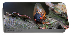 Cicada - The Red-eyed Monster Portable Battery Charger by Yvonne Wright