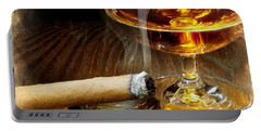 Cigar And Cordial Painting Portable Battery Charger