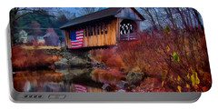 Cilleyville Covered Bridge Portable Battery Charger by Jeff Folger