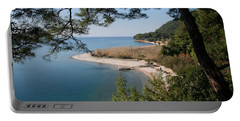 Portable Battery Charger featuring the photograph Cinar Beach by Tracey Harrington-Simpson