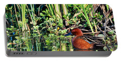 Cinnamon Teal And Dragonfly Portable Battery Charger