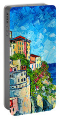 Cinque Terre Italy Manarola Painting Detail 3 Portable Battery Charger