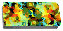 Portable Battery Charger featuring the digital art Circles Squared 2 by Shawna Rowe