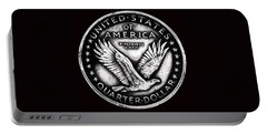 Circulated Standing Liberty Reverse Black And White Portable Battery Charger